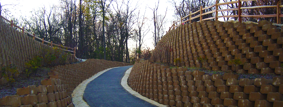 Northville Bike Path | Retaining Wall | Live Block