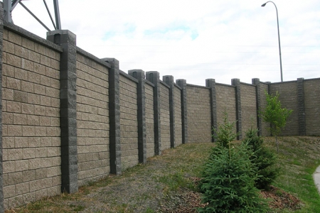 Allen Block Fence Wall