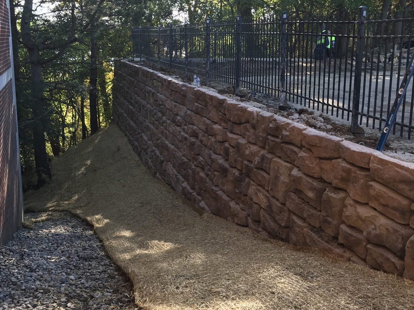 Path with Retaining Wall